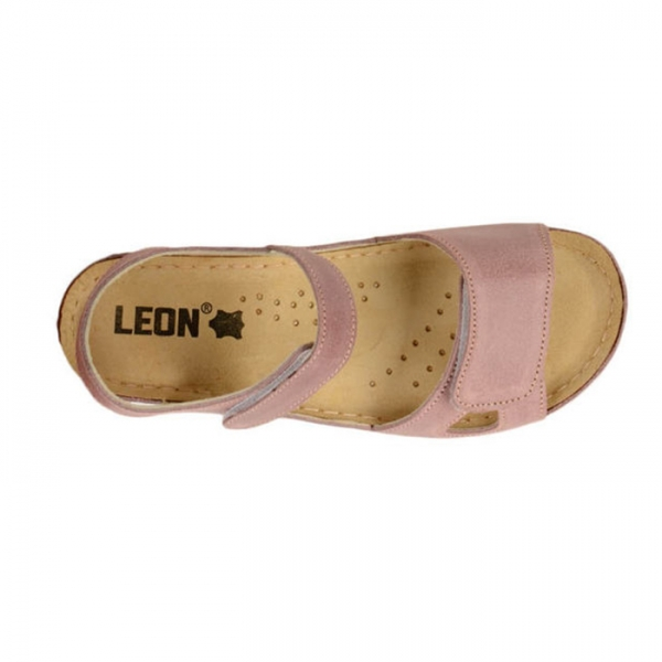Sandale confortabile Leon 935 Rose 4