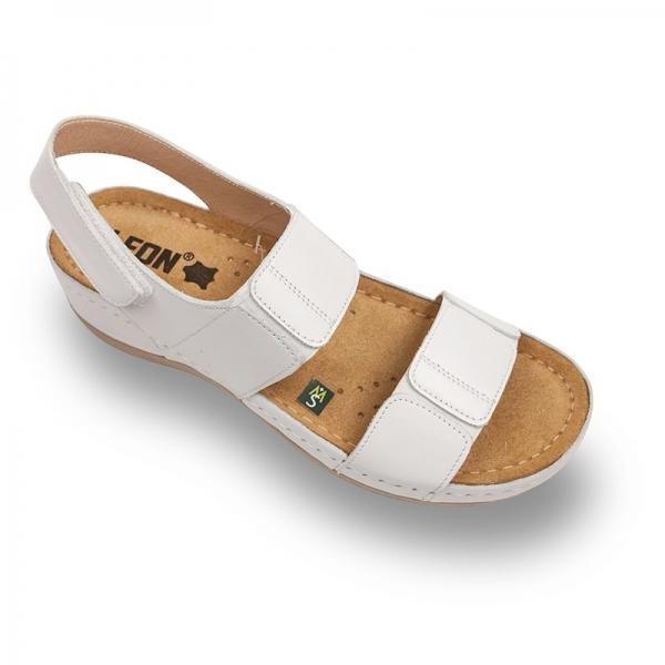 Sandale confortabile Leon 945 Alb 0