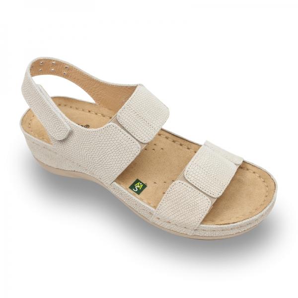 Sandale confortabile Leon 945 Bej-Imprimeu 0