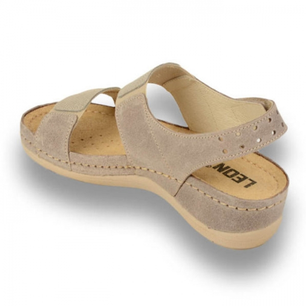 Sandale confortabile Leon 945 Gri-Maroniu 2