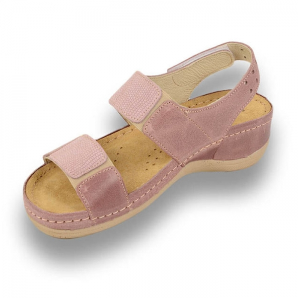 Sandale confortabile Leon 945 Rose