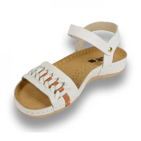 Sandale confortabile Leon 964 Alb