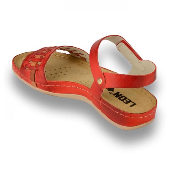 Sandale confortabile Leon 964 Rosu