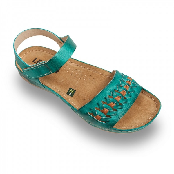 Sandale confortabile Leon 964 Turcoaz