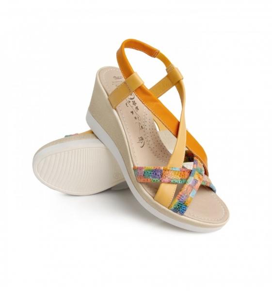 Sandale confortabile Malaga EX1N1 Galben