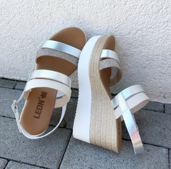 Sandale cu talpa ortopedica 1301 Silver