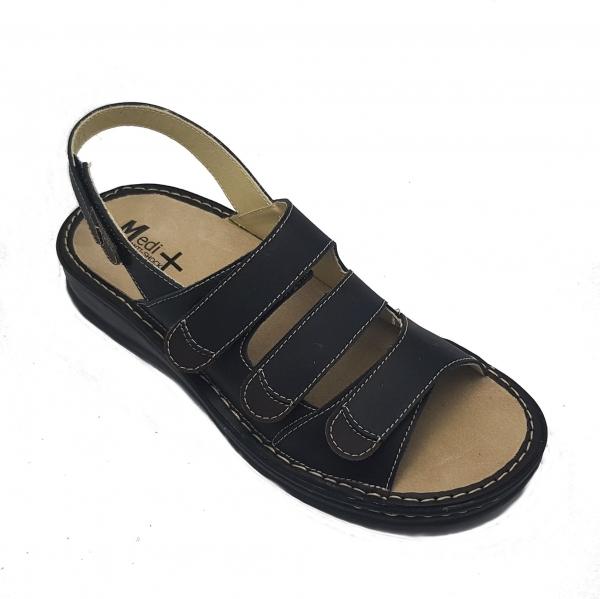 Sandale cu talpa ortopedica 5892S Negru